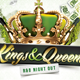 Kings Queens R&B Party Flyer Template - GraphicRiver Item for Sale