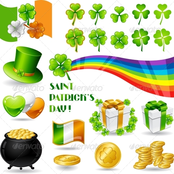 Collection illustrations of Saint Patrick's Day.