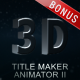 3D Title Maker Animator II - VideoHive Item for Sale