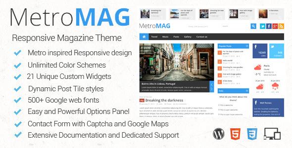 Metro Magazine Responsive WordPress Theme Download