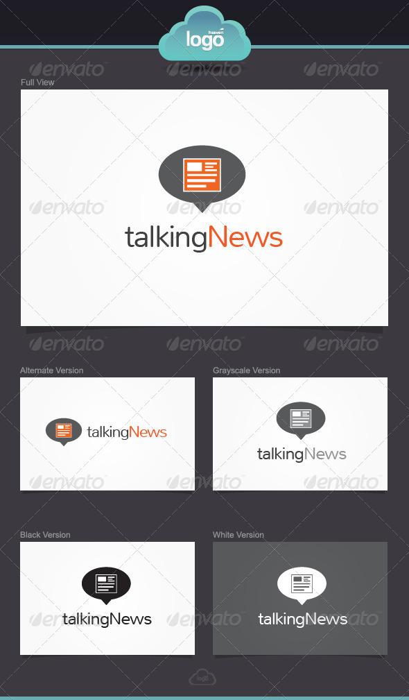 Talking News Logo Template