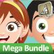 Manga Kids Mascot Mega Bundle - GraphicRiver Item for Sale