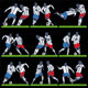 Vector Football Players with Ball and Grass - GraphicRiver Item for Sale