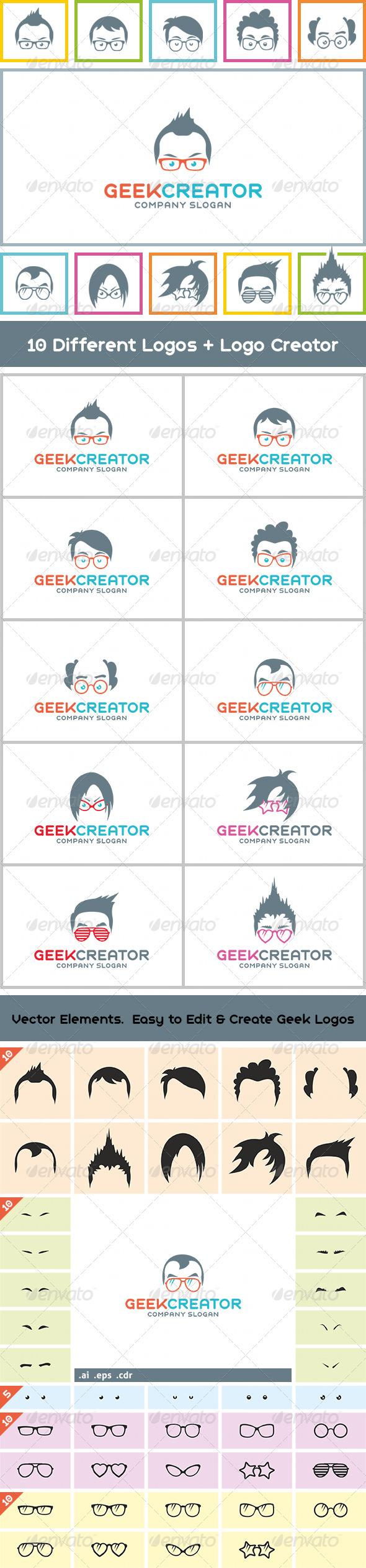 10++ Geek Creator Logos