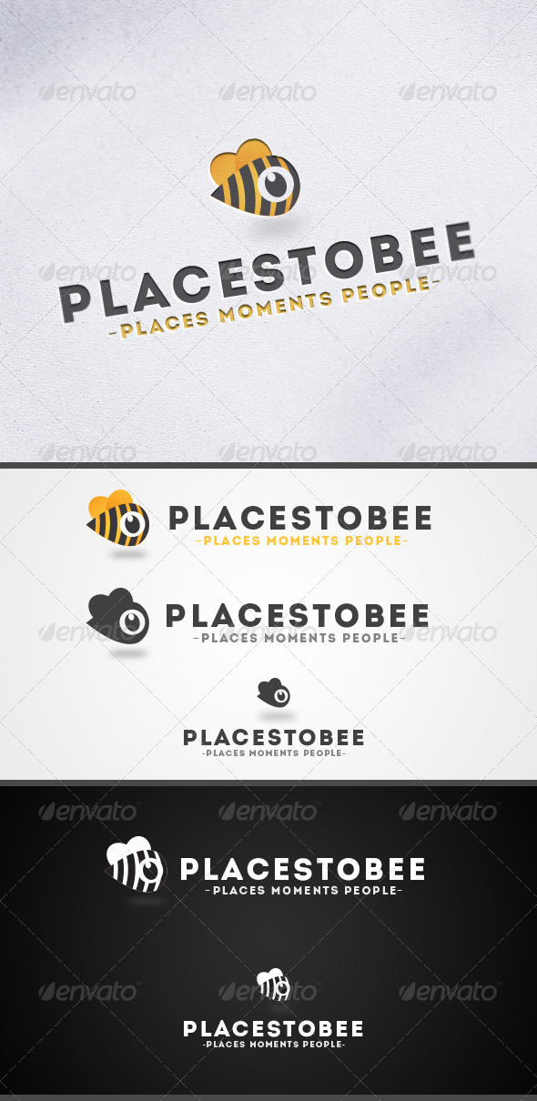 Places to Bee-Location Marker Logo