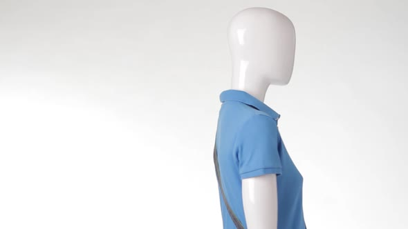 Mannequin in Polo T-shirt Turning.