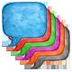 6 Speech Bubble Watercolor Square Shape - GraphicRiver Item for Sale