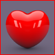 3D Heart Icon - 3DOcean Item for Sale