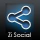 Zi Social Share - HTML + CS33 - CodeCanyon Item for Sale