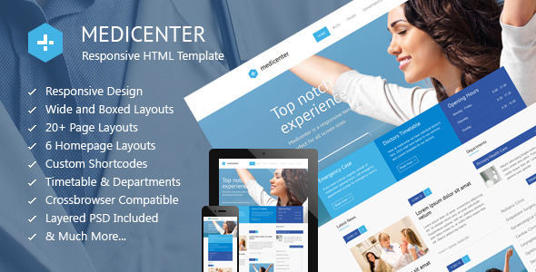 MediCenter – Health Medical Clinic Template