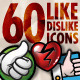 60 Like/Dislike Icons - GraphicRiver Item for Sale