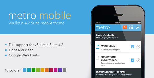 Metro Mobile - A Theme for vBulletin 4.2