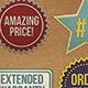 Editable Paper Cut Badges - GraphicRiver Item for Sale