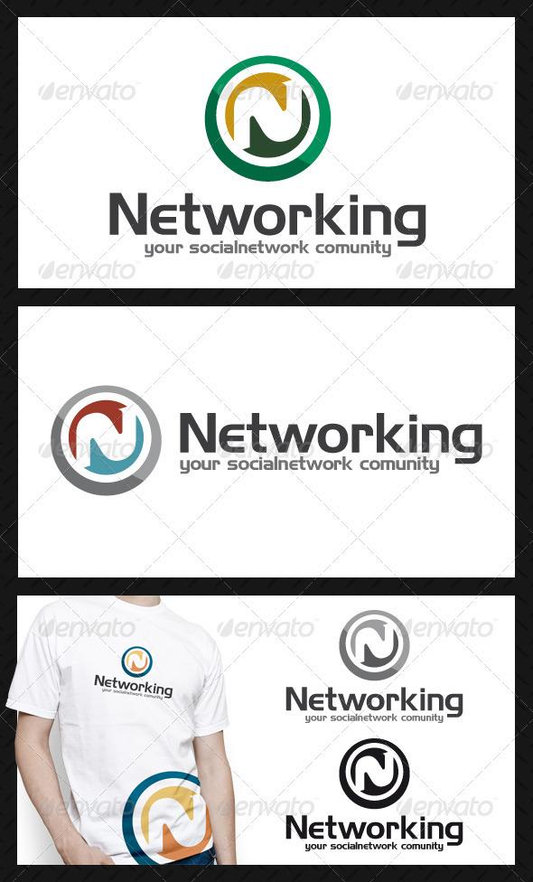 Social Network Community Letter N Logo Template