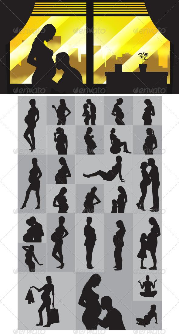 Pregnant Silhouettes