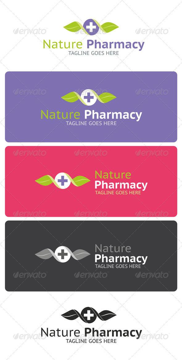 Nature Pharmacy Logo Template