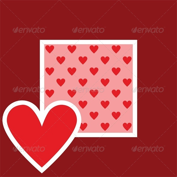 Valentine greeting card with heart pattern