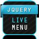 jQuery Live Menu - CodeCanyon Item for Sale