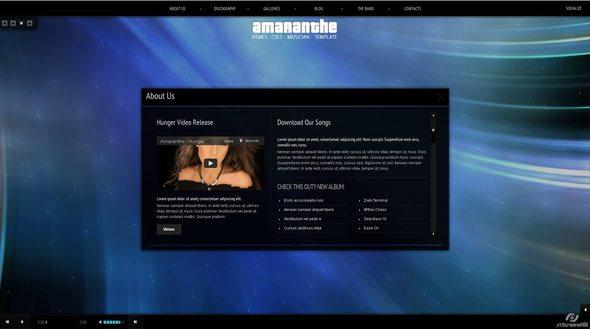 Ritualhealing Musician Template HTML5 CSS3