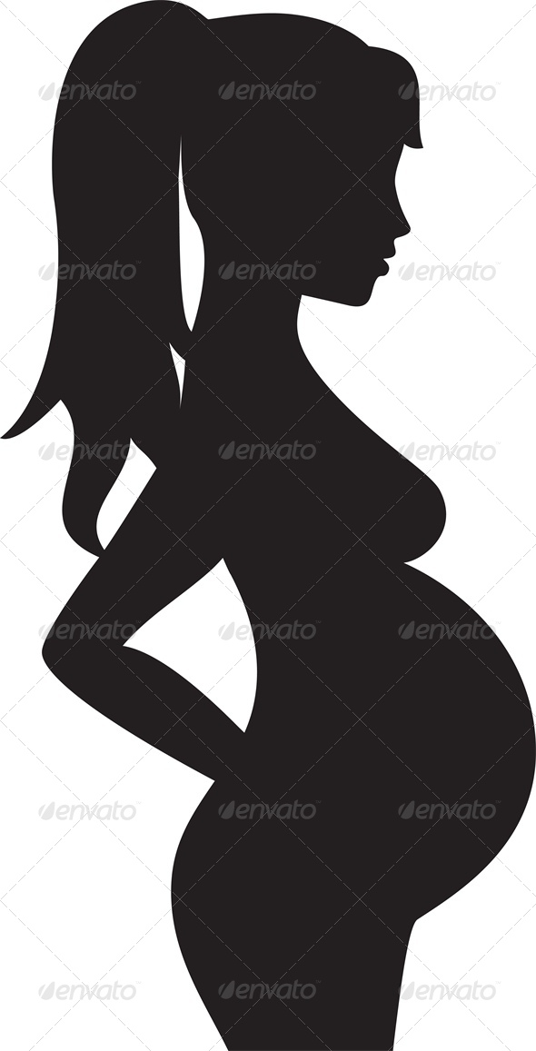 Silhouette of a Pregnant Woman
