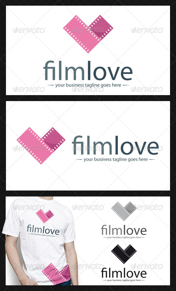 Film Love Logo Template