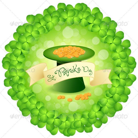 St. Patricks Day Leprechaun Hat with Gold Coins