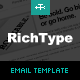Rich Typography Email Template - ThemeForest Item for Sale