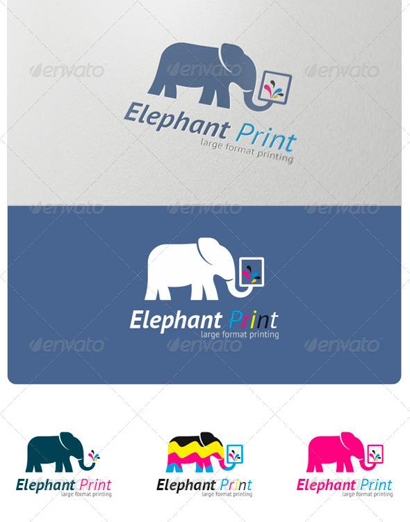 Elephant Print Logo