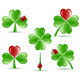 Shamrocks with Four Lucky Leaves - GraphicRiver Item for Sale