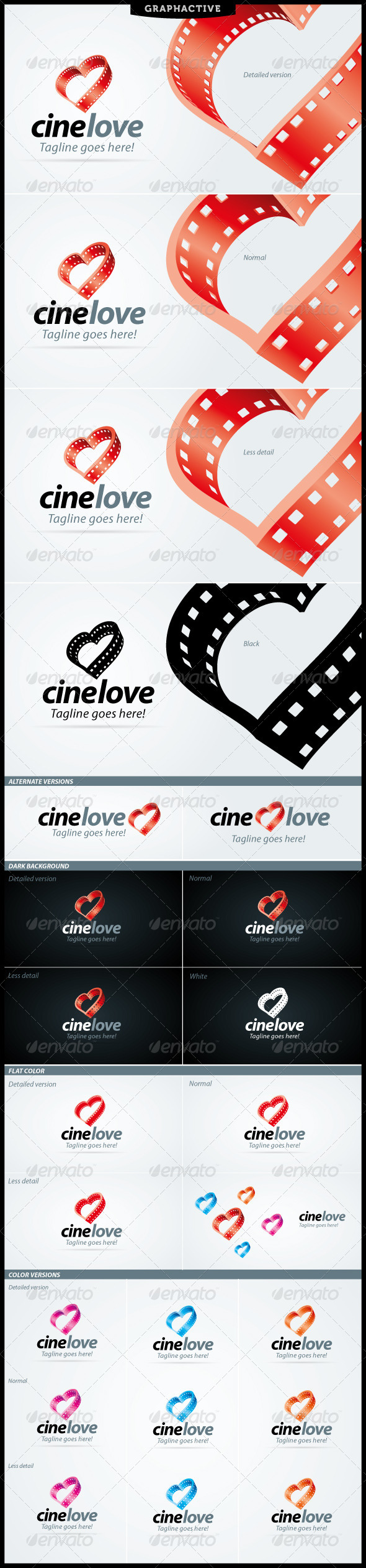 CineLove Logo For Video And Film Business