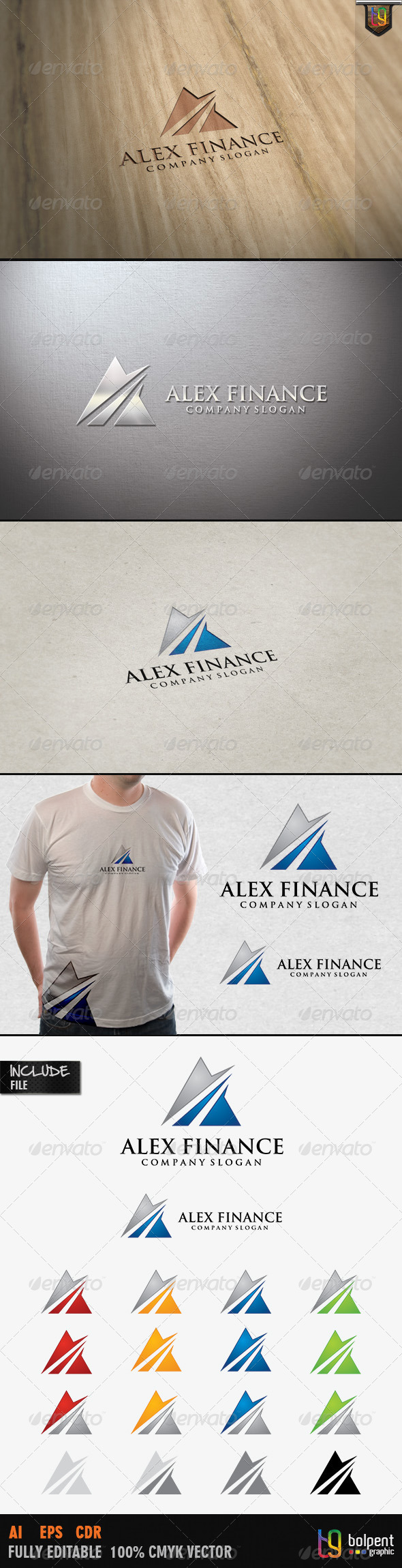 Alex Finance Logo Template