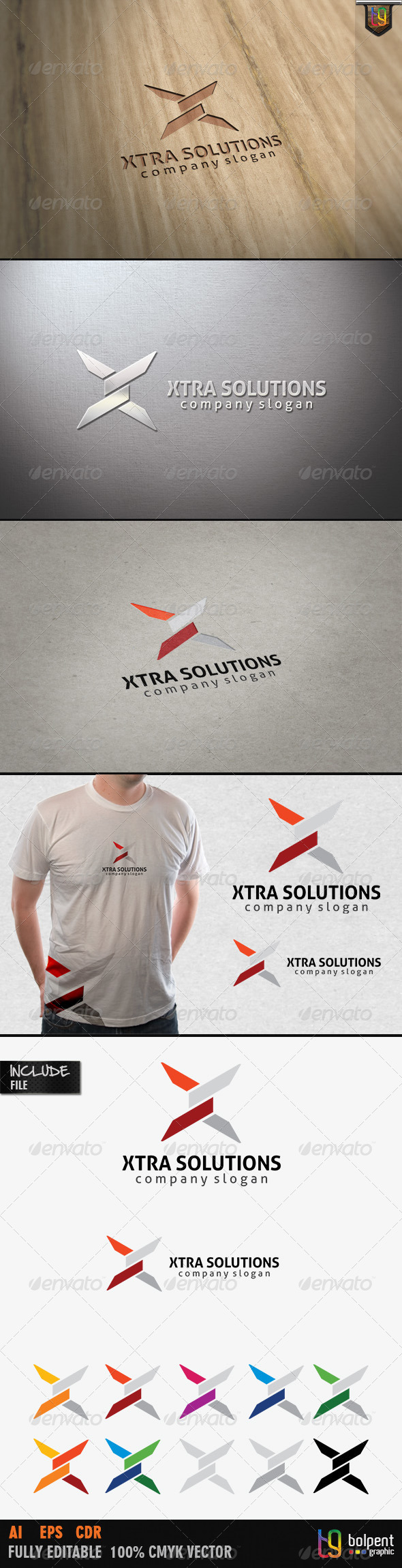 Xtra Solutions Logo Template