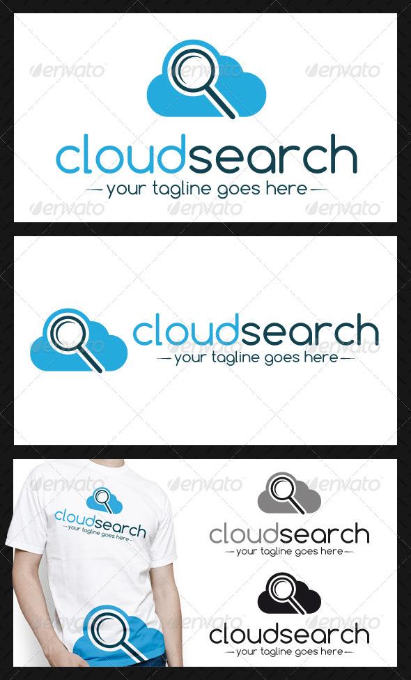 Cloud Search Logo Template