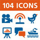 104 Vector Icons - GraphicRiver Item for Sale