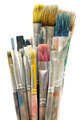 Dirty Paintbrushes Isolated on a White Background - PhotoDune Item for Sale