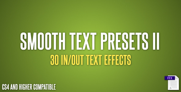 Smooth Text Presets II