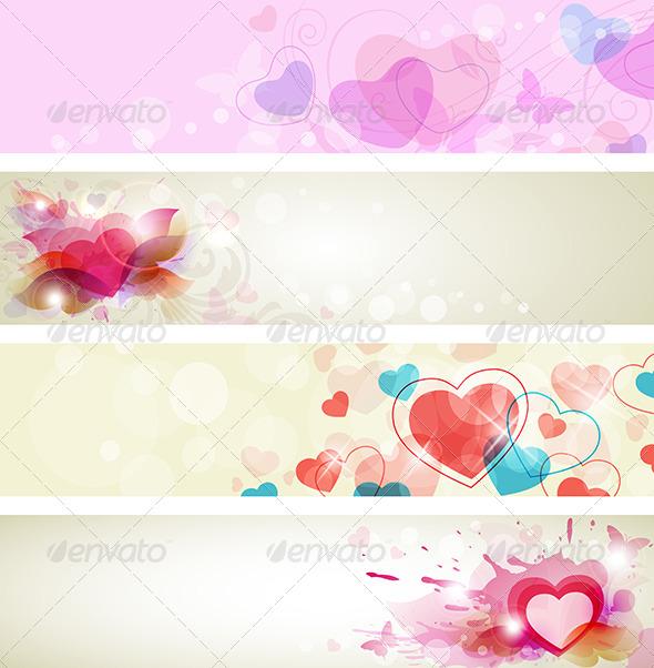 Romantic Valentine Banners