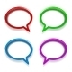 Colorful Glossy Speech Bubbles - GraphicRiver Item for Sale