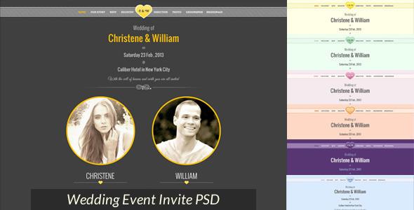 Marriage, Wedding Cermony Event Invite PSD 26