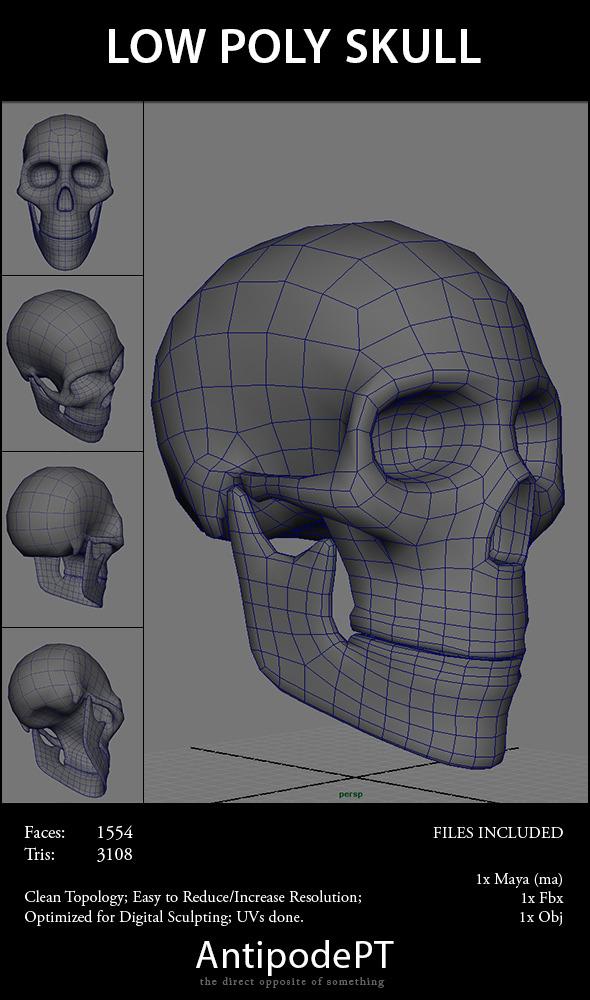3D Skeleton Models from 3DOcean