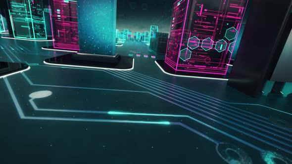 Software Development with Digital Technology Concept