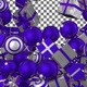 Christmas Balls and Gift Boxes Transition - Purple White - VideoHive Item for Sale