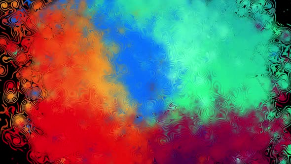 Color cartoon transition.