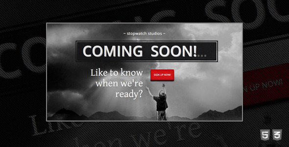 StopWatch - Coming Soon Html5 Template