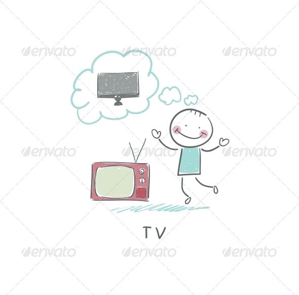 Man Dreams of a New TV