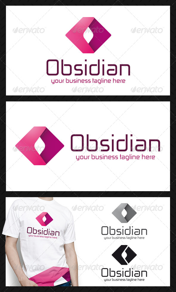 Obsidian Media Logo Template