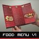 Food Menu Trifold Broshure V1 - GraphicRiver Item for Sale