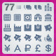 77 AI and PSD Finance strict Icons  - GraphicRiver Item for Sale