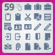 59 AI and PSD Work strict Icons  - GraphicRiver Item for Sale