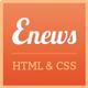 Enews Responsive News & Portofolio Template - ThemeForest Item for Sale